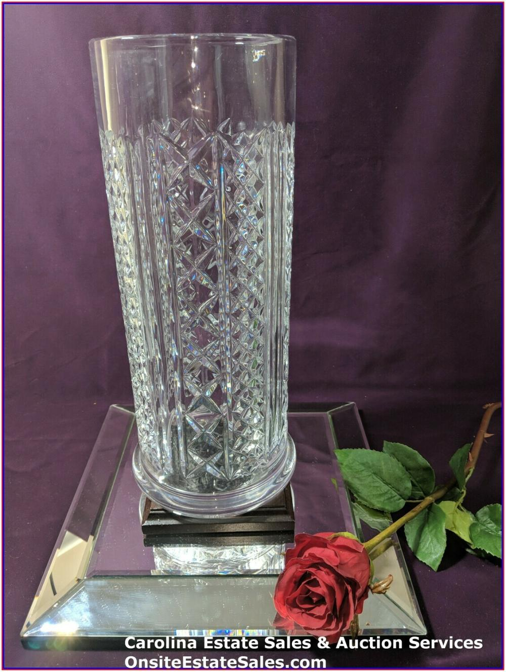 Waterford FLEUROLOGY LARGE AUDREY CYLINDRICAL VASE