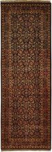 INDIA HERATI ORIENTAL RUG, 2-7 X 7-10, 100% WOOL, HAND WOVEN & HAND KNOTTED