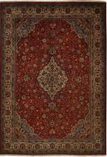 IRAN SAROUK ORIENTAL RUG,  8-4 X 11-8, 100% WOOL, HAND WOVEN & HAND KNOTTED