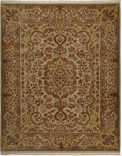 CHINA KASHAN ORIENTAL RUG, 7-9 X 9-9, SILK & WOOL, HAND WOVEN & HAND KNOTTED