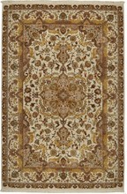 CHINA TABRIZ 5-9X8-9SILK & 100% WOOL, HAND WOVEN & HAND KNOTTED