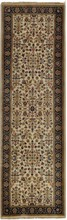 INDIA SAROUK ORIENTAL RUG, 2-6 X 8-0, SILK & WOOL, HAND WOVEN & HAND KNOTTED