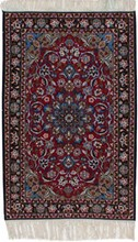 IRAN ISFAHAN ORIENTAL RUG, 2-5 X 3-6, SILK & WOOL, HAND WOVEN & HAND KNOTTED