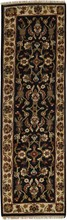 INDIA KASHAN ORIENTAL RUG, 2-7 X 7-11, 100% WOOL, HAND WOVEN & HAND KNOTTED