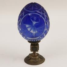 FABERGE CUT TO CLEAR CRYSTAL NEWEL POST