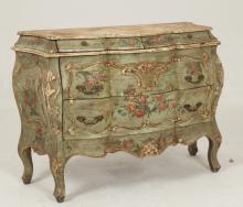 LOUIS XV STYLE POLYCHROME COMMODE