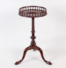 GEORGIAN MAHOGANY GALLERY TOP KETTLE STAND