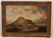 CLARKSON STANDFIELD, 19TH C. 0/C SEASIDE PAINTING