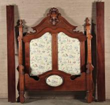 AMERICAN HIGHBACK VICTORIAN WALNUT BED