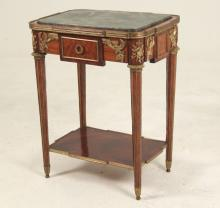 FRENCH LOUIS XVI STYLE BRONZE MOUNTED CENTER OF ROOM TABLE