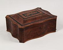 19TH C. CONTINENTAL SERPENTINE FITTED BOX