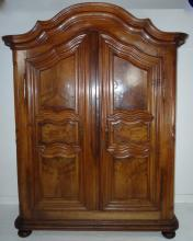 HANDSOME EARLY PROVINCIAL FRENCH WALNUT ARMOIRE