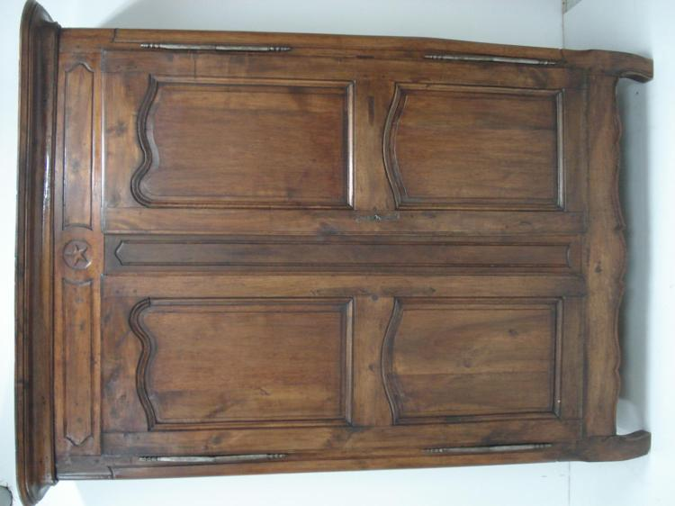 LOUIS XV STYLE PROVINCIAL CARVED ARMOIRE