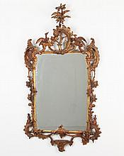 IMPORTANT 18TH C. CHIPPENDALE CARVED AND GILTWOOD MIRROR