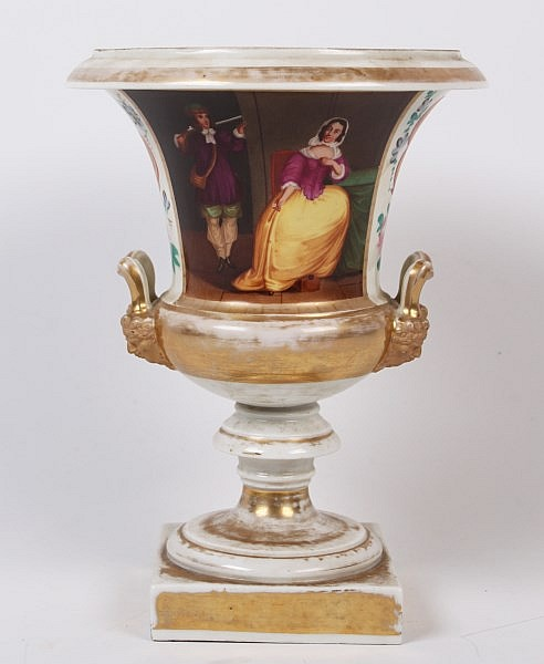 OLD PARIS DOUBLE HANDLED URN
