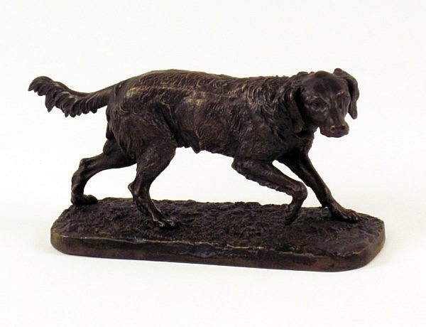 FRENCH BRONZE FIGURE OF A SETTER