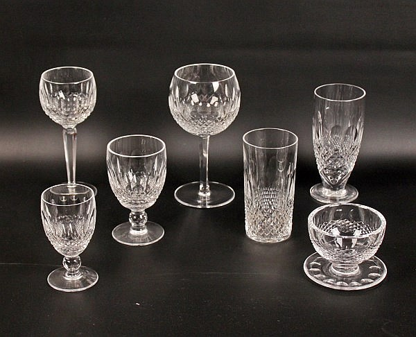 78 PIECE SIGNED WATERFORD CRYSTAL STEMWARE COLLECTION IN THE