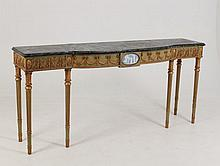DECORATIVE ADAMS DESIGNED PAINTED CONSOLE