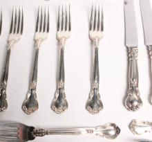 24 PIECES OF CHANTILLY  STERLING SILVER 23 TROY OZS