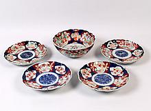 5 PIECE MISCELLANEOUS LOT OF JAPANESE MEIJI PERIOD IMARI PORCELAIN