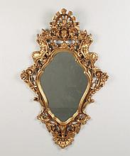 19TH C. CONTINENTAL CARVED GILT WOOD MIRROR