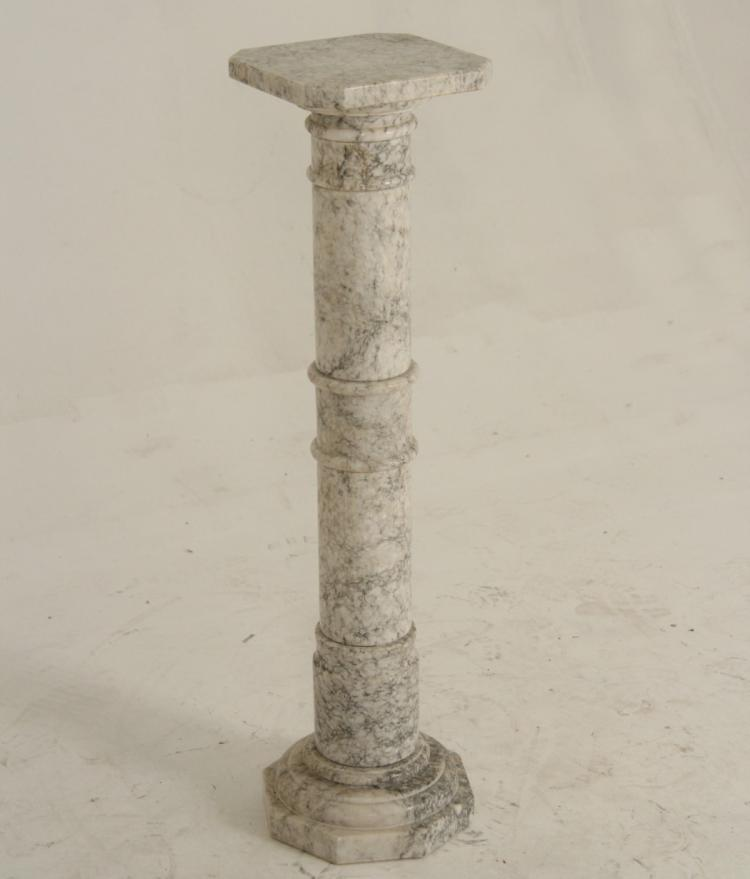 Gray White Veined Marble Bathrooms: ITALIAN WHITE AND GREY VEINED MARBLE PEDESTAL