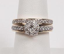 14K YELLOW GOLD 2 PIECE DIAMOND BRIDAL SET