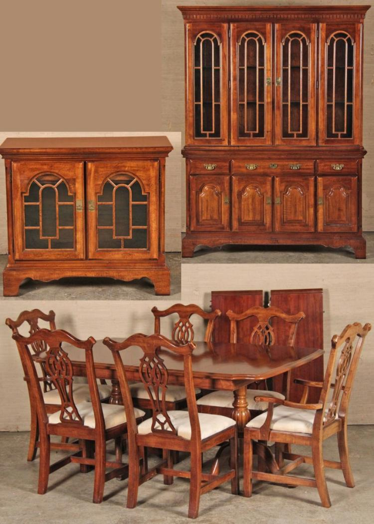 9 Piece American Cherry Dining Room Suite