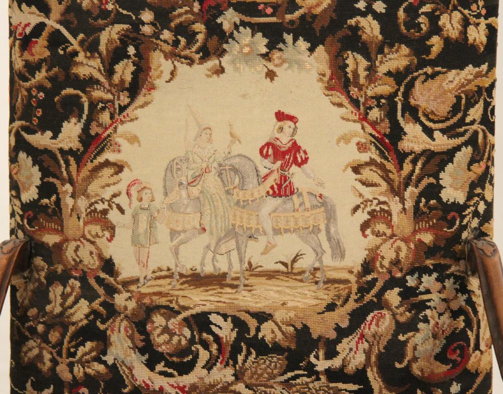Lot 58: PR. OF LOUIS XV STYLE NEEDLEPOINT FAUTEUILS