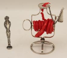 Lot 72: 2 PC. LOT OF ENGLISH STERLING SILVER