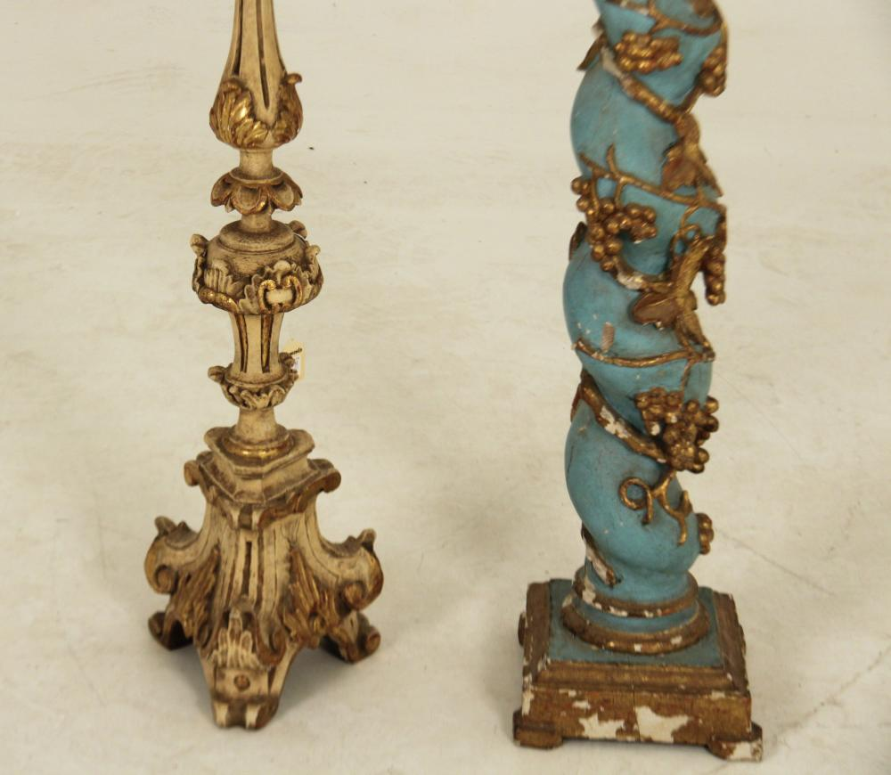 Lot 84: 2 PC. LOT OF CARVED ITALIAN WOOD ITEMS