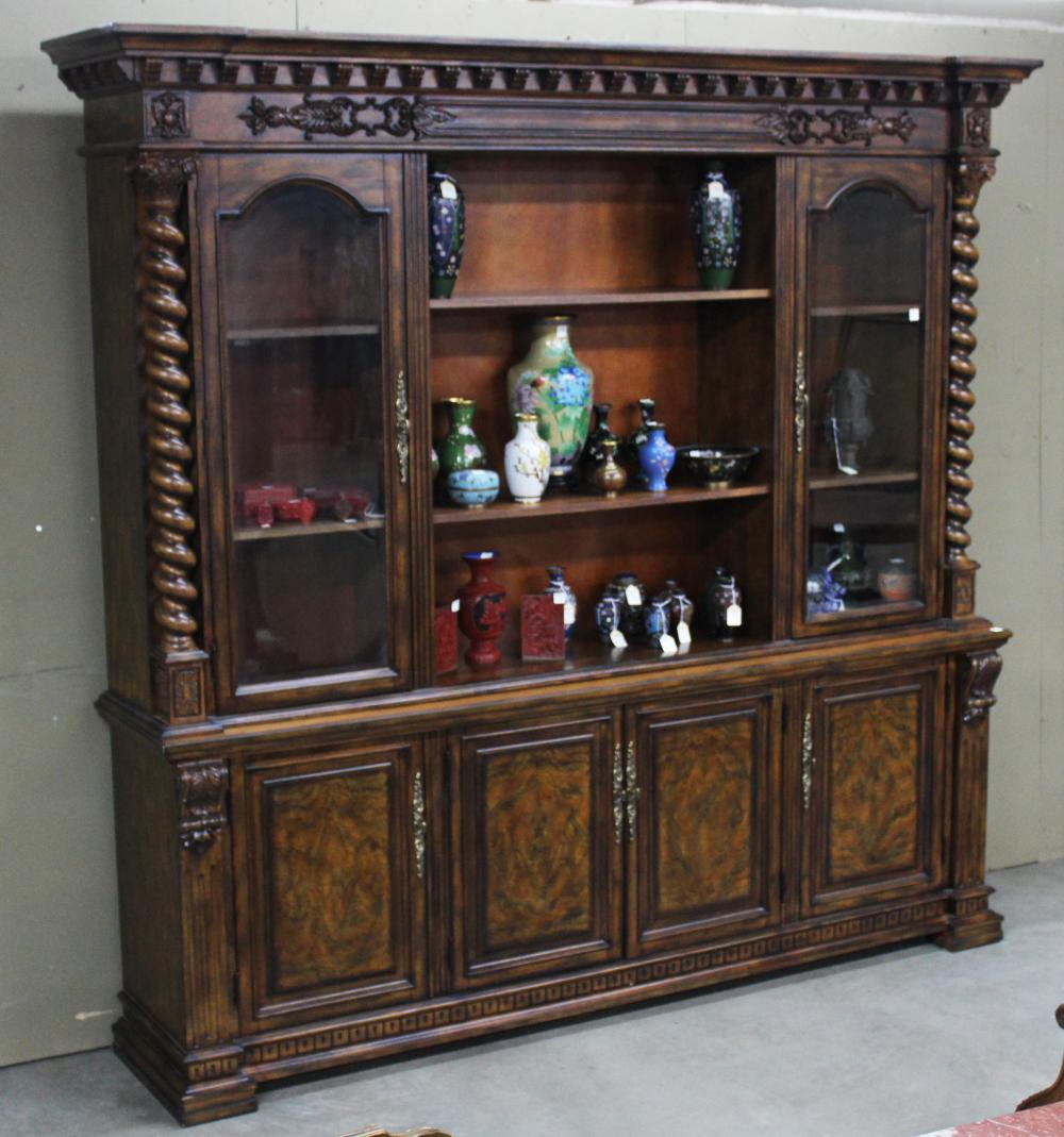 Lot 91: FRENCH STYLE WALNUT BOOKCASE
