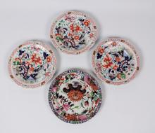 Lot 113: GROUP OF 4 ENGLISH IRONSTONE PLATES
