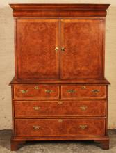 Lot 146: WILLIAM AND MARY STYLE WALNUT CABINET