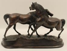 Lot 105: BRONZE AFTER P.J. MENE OF ARABIAN HORSES