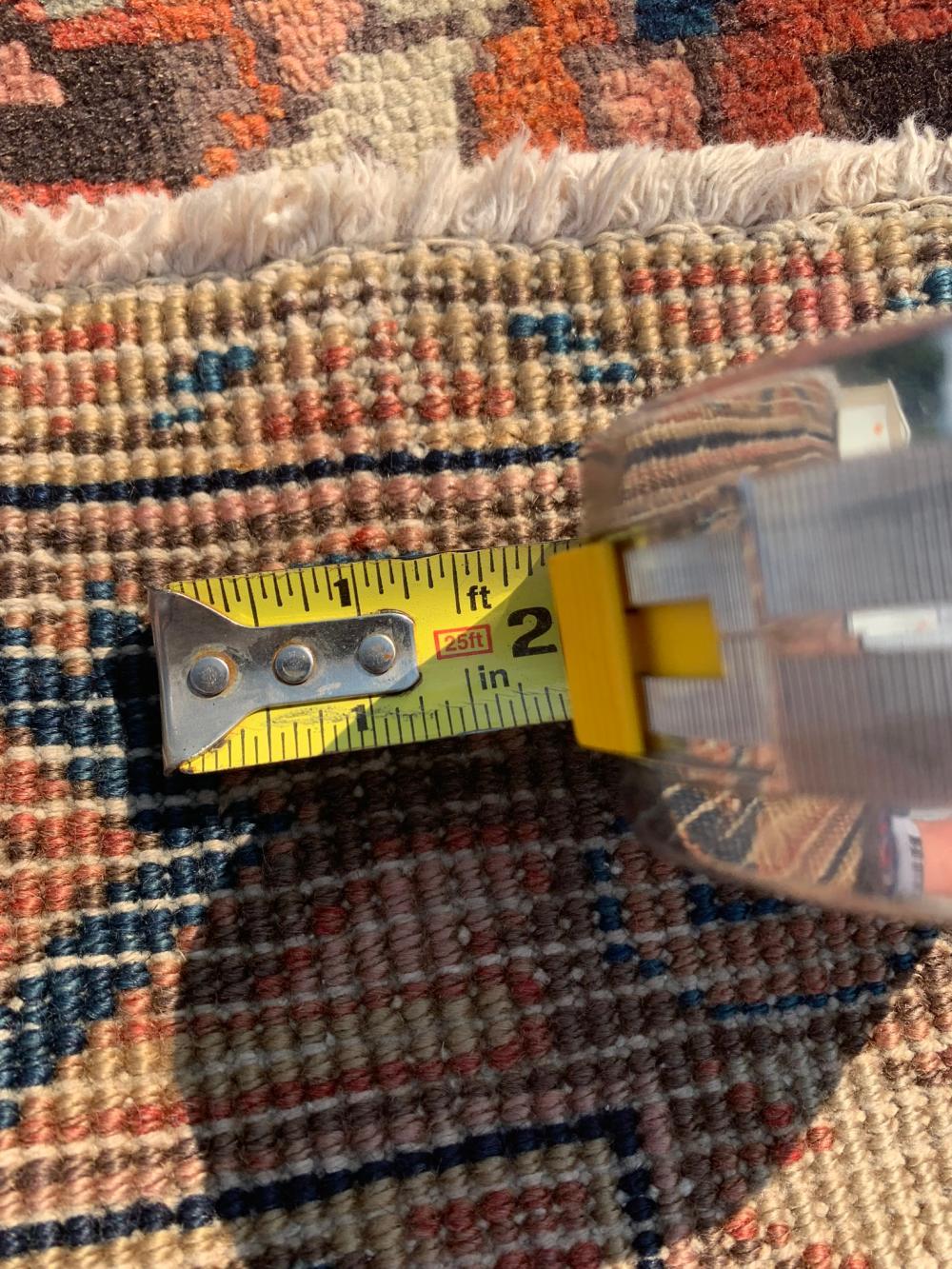 "Lot 214: ORIENTAL RUG 3'9"" X 10'10"" HERIZ"