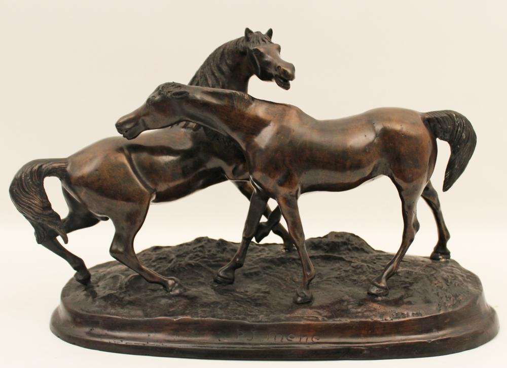 BRONZE AFTER P.J. MENE OF ARABIAN HORSES