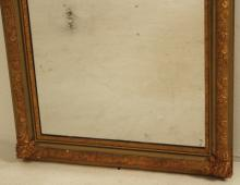 Lot 204: LARGE CARVED GILTWOOD AND GESSO MIRROR