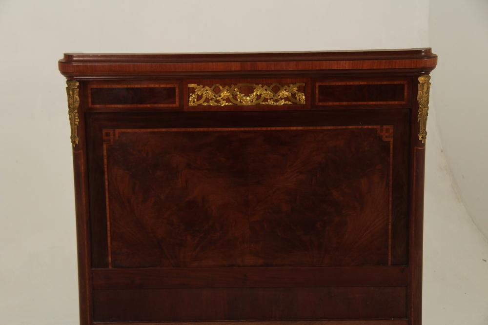 Lot 241: PR OF LOUIS XVI STYLE BRONZE MOUNTED BEDS