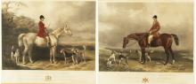 Lot 138: PR. OF HAND-COLORED ENGRAVINGS