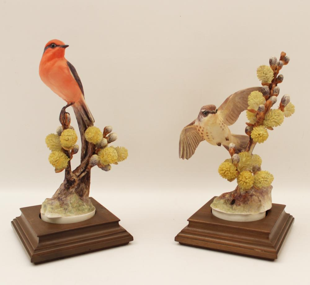 PR. OF DOROTHY DOUGHTY PORCELAIN BIRDS