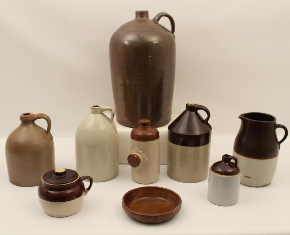 9 PC. MISC. LOT OF SOUTHERN STONEWARE