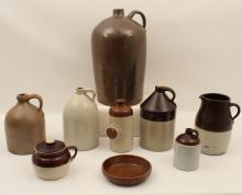 Lot 176: 9 PC. MISC. LOT OF SOUTHERN STONEWARE