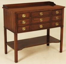 Lot 181: MAHOGANY SILVER CHEST BY BAKER
