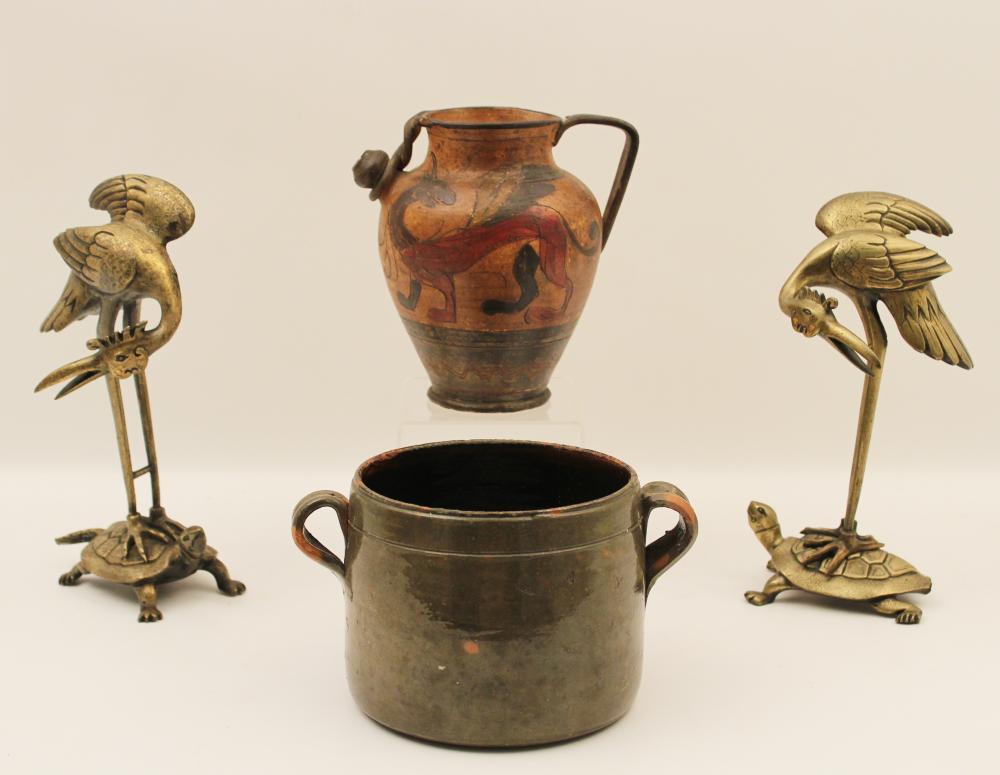 Lot 151: 4 PC. MISC. LOT OF DECORATIVE ITEMS