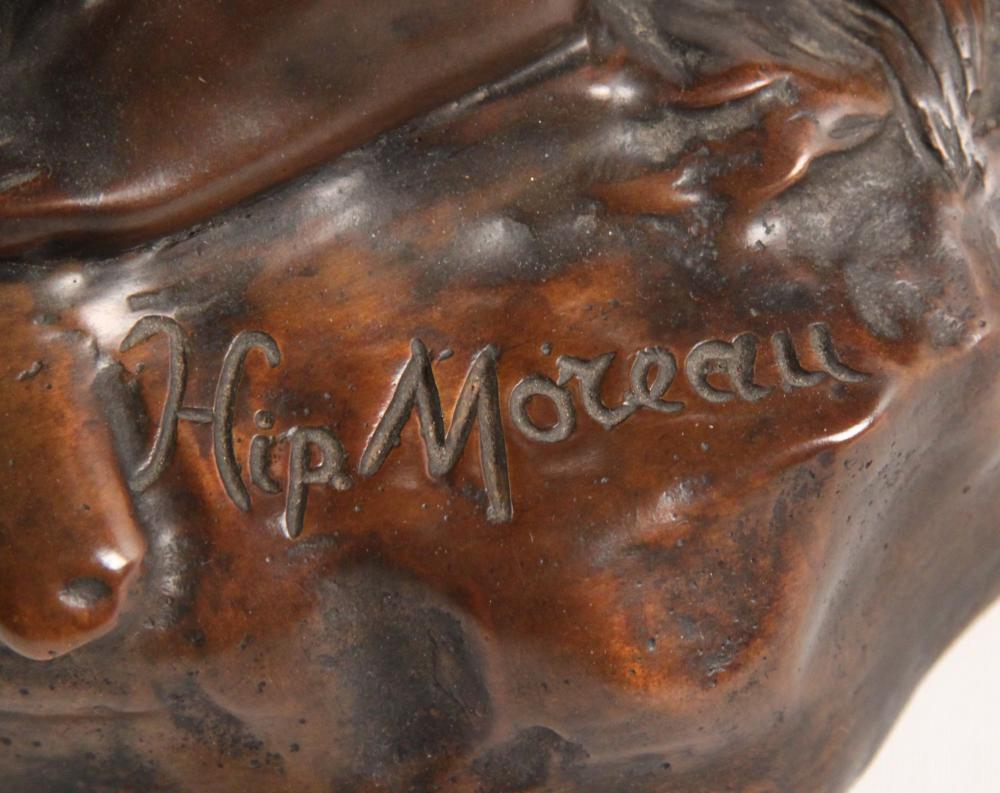 Lot 245: HIP MOREAU, FRENCH BRONZE