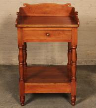 Lot 243: 3 PC. LOT OF CHERRY AMERICAN FURNITURE
