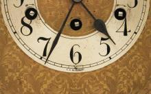 Lot 237: GERMAN MAHOGANY BRACKET CLOCK