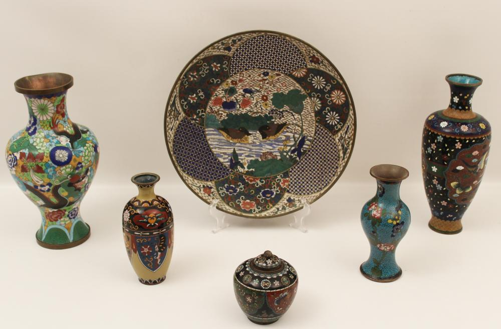 6 PC. LOT OF CHINESE CLOISONNE