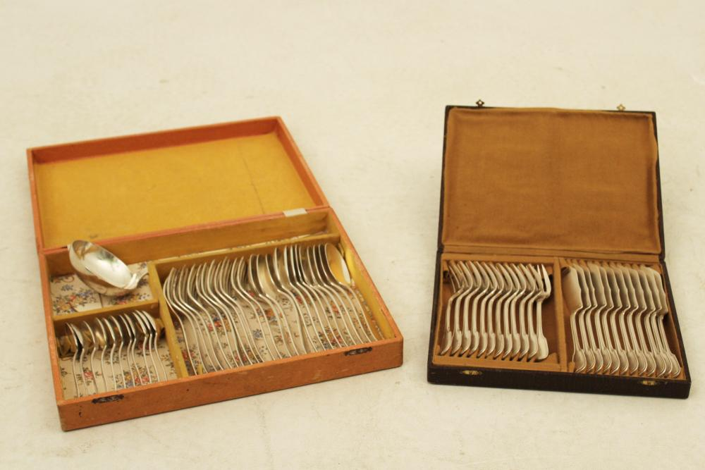 2 SETS OF FRENCH HALLMARKED PLATED SILVER